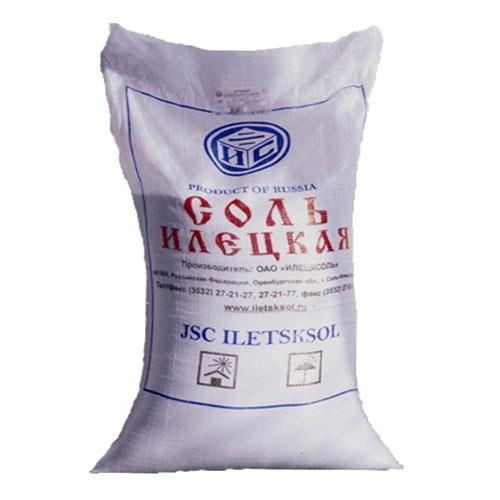 Соль Илецкая йод 1 помол мешок 50 кг